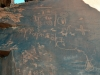Petroglyphen von den Natives