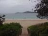 Fingal Bay bei Regen