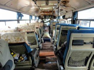 Unser Bus von Pakse zu den Islands